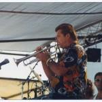 Jeff Elliott playing at the Santa Barbara Art Festival, Jeff Elliott group, 1985