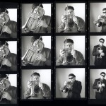 Jeff Elliott with Mike Lopez, Brooks Institute student project photos, 1998