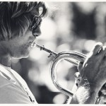 Jeff Elliott playing with Fourplay at Alameda Park in Santa Barbara, 1980