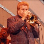 Jeff Elliott playing at the Playboy Jazz Festival with Les McCann in 1993 with Rufus Reid