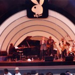 Jeff Elliott playing at the Playboy Jazz Festival with Les-McCann on piano, Eddie Harris on sax, Rufus Reid on bass, and Norman Farrington on drums
