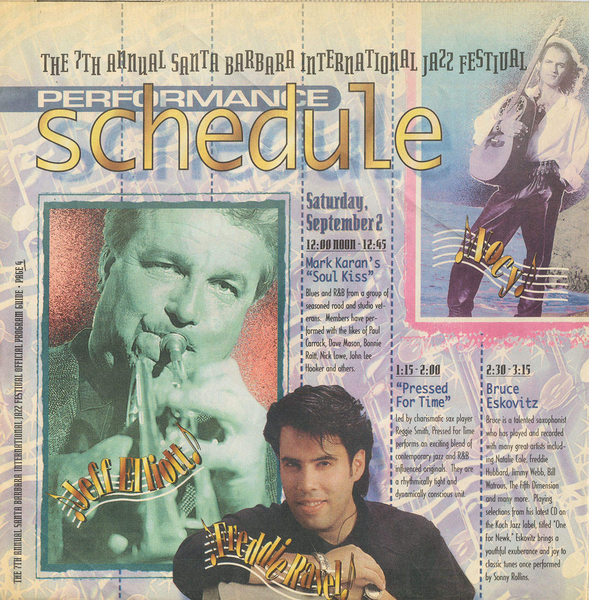 7th Annual Santa Barbara International Jazz Festival Official Program Guide, Sept. 2, 1995